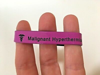 SALE Malignant Hyperthermia Wristband Medical Alert ID Children Boys Girls 152mm