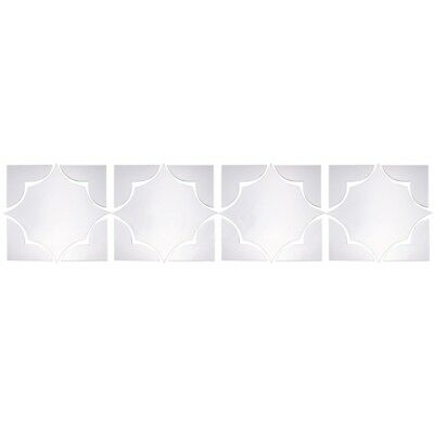 2X(4Pcs Set Self Adhesive Mirror Tile 3D Wall Stickers Decal Art Home Deco R7J3)