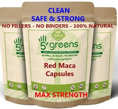 Red Maca Root Extract Capsules 2040mg Gelatinized Organic Extract not Powder