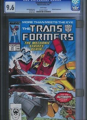 Transformers # 28 CGC 9.6  White Pages. UnRestored.