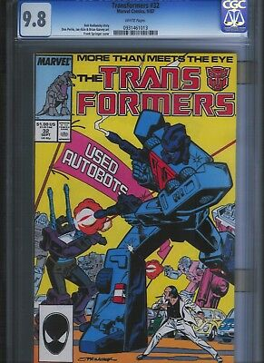 Transformers # 32 CGC 9.8  White Pages. UnRestored.