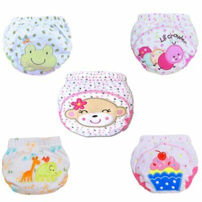 Baby Girl Boy Toilet Pee Potty Waterproof Training Pants Toddler Cotton Washable