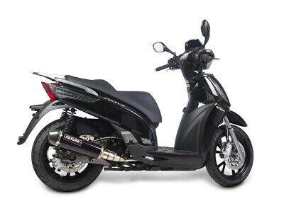 Exhaust maxiscooter 4 stroke black carbon - KYMCO PEOPLE S - Yasuni  (Pe)
