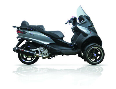 Exhaust maxiscooter 4 stroke black carbon - PIAGGIO/ VESPA MP3 - Yasuni  (Pe)