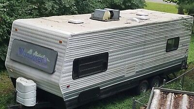 Salvage Wilderness Camper with great Trailer for Tiny Home
