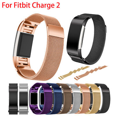 For Fitbit Charge 2 Strap Replacement Milanese Band Stainless Steel Magnet ✨UK✨