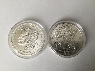 ZOMBUCKS 1 oz  SILVER ROUNDS - MORGUE ANNE and WALKER