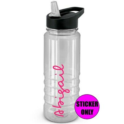 Personalised Water Bottle Sticker,Vinyl Decal Only Inspired by Love Font, Island