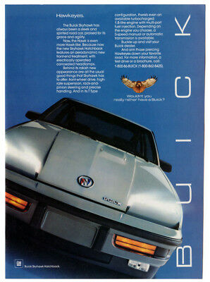 1986 BUICK Skyhawk Hatchback Vintage Original Print AD Silver car photo English