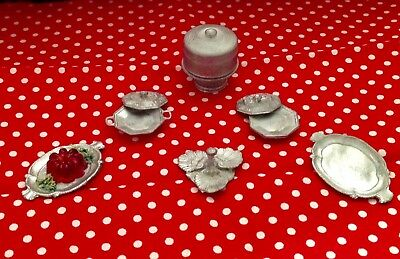 Marvelous Dollhouse Miniature(1:12)Miscellaneous KITCHEN THINGS Lot ALL PEWTER