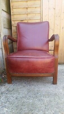 Old  Vintage Oak Bentwood Armchair