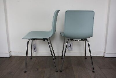 FREE UK DELIVERY   Pair of Ice Grey Vitra HAL Dining Chairs   Jasper Morrison