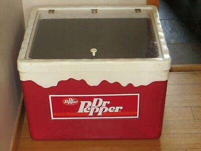 DR PEPPER sign COOLER store display Very hard to find-NICE PRICE