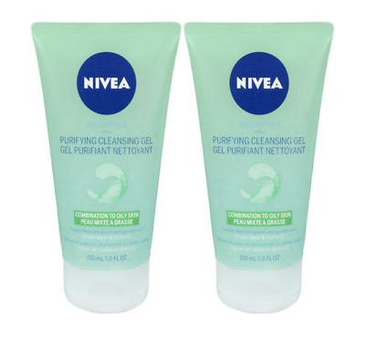 2x Nivea Purifying Cleansing Gel Combination to Oily Skin Ocean Algae 150ml