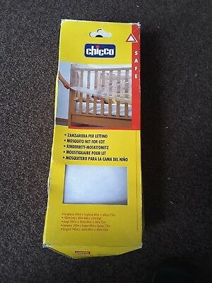 Chicco White Mosquito Net For Cot  - 140 x 60 x 73 cm