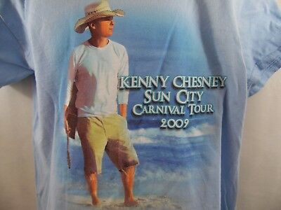 Kenny Chesney Sun City Carnival Tour 2009 T-Shirt Size L