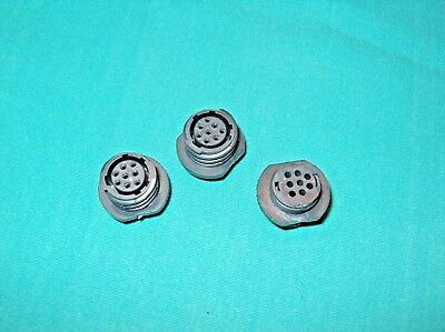 Lot Of 3 Amp 206433-2 Connector Receptical Housing Female 8 Pos ** New **