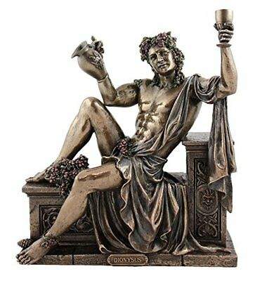 Dionysus Greek God of Wine and Festivity Statue  Sculpture Figure - Gift Boxed