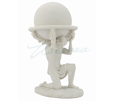 Atlas Carrying The World White Statue Sculpture Figure -  FATHERS DAY GIFT!