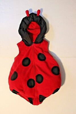 Carter's 24 Month Ladybug Costume Includes Coordinating Tights Pre-Owned Good