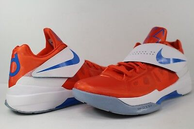 7e8edf7bdc55 Nike Zoom KD IV 4 OKC Home Creamsicle Team Orange Photo Blue White Size  10.5 Lot