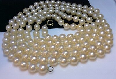 Lovely Vintage Art Deco Long Flapper Style Faux Pearl Necklace