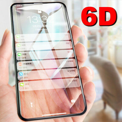 Screen Protector For iPhone 11 Pro Max XR XS X 6 8 Plus 6D Curved Tempered Glass
