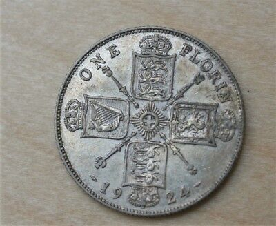 1924 Great Britain Florin Upper Condition Raw