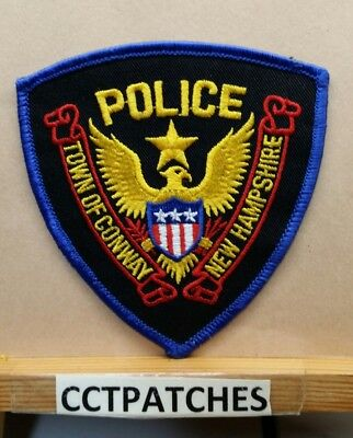 Town Of Conway, New Hampshire Police Shoulder Patch Nh