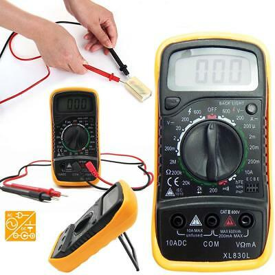 XL830L Digital Multimeter Volt Meter Ammeter Ohmmeter Tester Yellow New K Gift