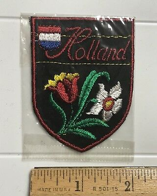 NIP Holland The Netherlands Flower Tulip Tricolor Flag Embroidered Patch Badge