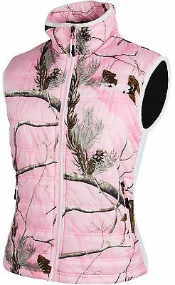 FXR WOMENS LADIES Realtree™ AP Pink BLOCK HEATER INSULATED VEST - Size 12 or 14