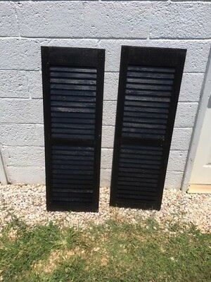 Antique Pair of Wooden Shutters - very good condition