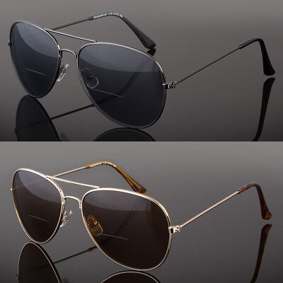 94b82385612 Retro Mens Aviator Bifocal Tinted Sun Reader Reading Sunglasses UV400  Protect