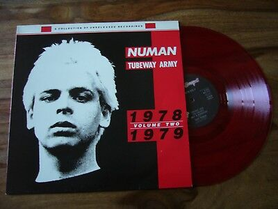 """12""""  Gary Newman Tubeway Army red/ rot Vinyl 1978 1979 Beggars Banquet New Wave"""