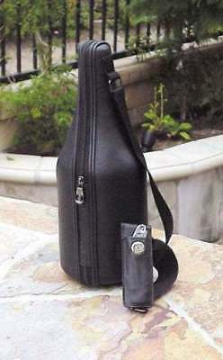 Leather Beverage and Wine Chiller Carrier w/6 Wine Charms  by CaddyO  c/w acces