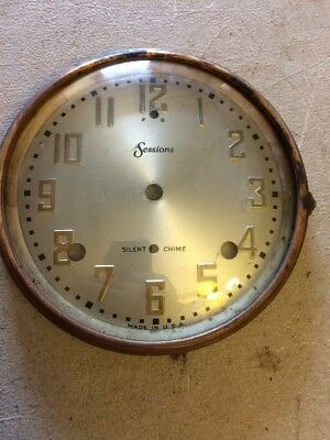 Sessions  Tambour Mantle Clock Dial And Bezel With Glass Westminster Chimes