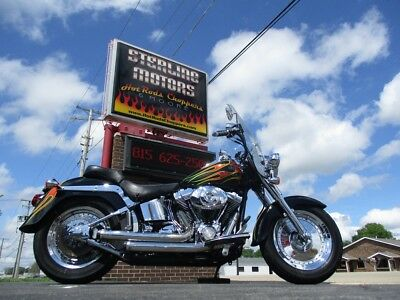 2003 Harley-Davidson Softail  03 H-D FLSTFi FAT BOY CUSTOM PAINT STEREO EXHAUST TONS OF CHROME 5K NO RESERVE!