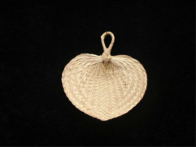 "Natural Palm Bamboo Wicker Wedding Hand Held Fans 6"" to 8"" Wide SHIPS FROM USA"