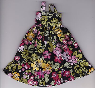 Doll Clothes-Gorgeous Black W/Floral Print Sundress fit Barbie Doll-Homemade SD4