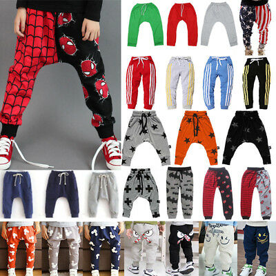 Toddler Boy Kids Girl Harem Pants Trousers Leggin Bottom Clothes Sweatpant Slack