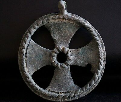 Ancient Viking Large Bronze Cross. Rare Norse Pendant Amulet, c 950-1000 Ad MINT