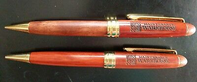 Home Depot Pen Pencil Set Wooden Used works Rare Engraved