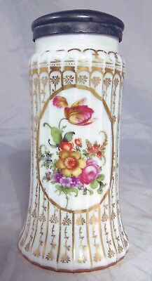 Prince Electoral Manufactory Nymphenburg Dresden Sugar Shaker Muffineer Flowers