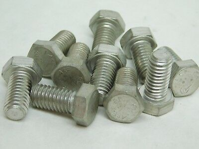 "10 PACK! 3/8-16 x 3/4"" ASTM A193 B8 Stainless Steel Hex Cap Screws Bolt NH"