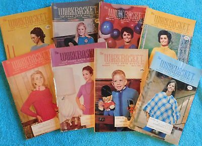 Lot of 8 The Workbasket Magazines from 1969