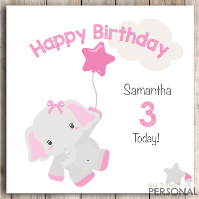 Personalised Birthday Card First 1st 2nd 3rd 4th Girl Daughter Granddaughter