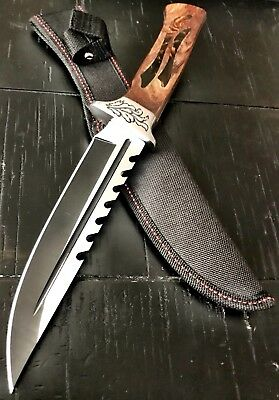 """12"""" TACTICAL SURVIVAL Rambo FULLTang FIXED BLADE KNIFE Hunting w/ SHEATH GHT062"""