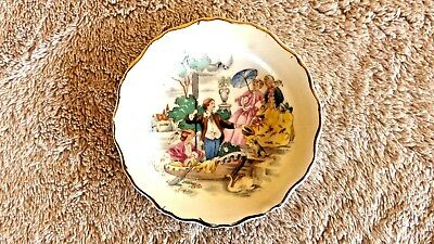 Antique Butter Pat Dish by LaFayette China 22k Gold Rim