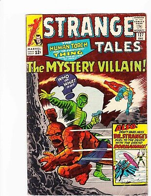 STRANGE TALES #127 Dec 1964 THE MYSTERY VILLAIN Condition 2.5 GD+ DITKO ART